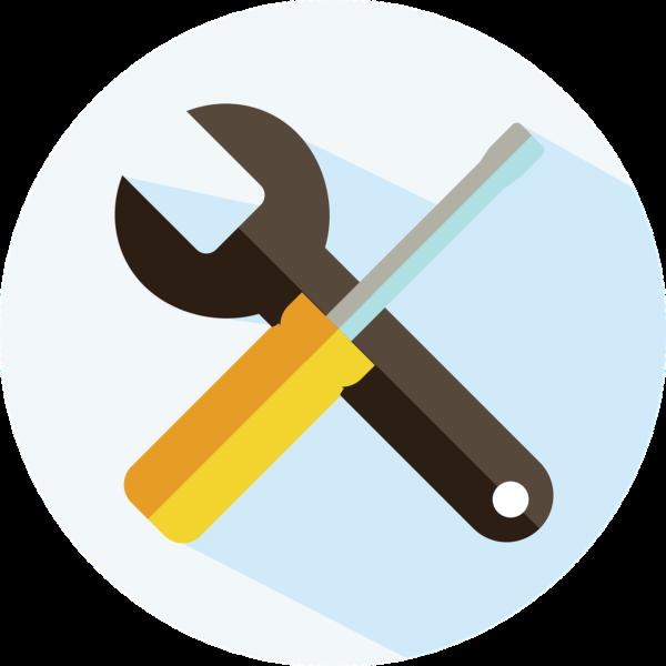 Ikona ključ in izvijač